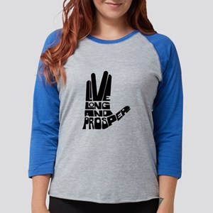 live long and prosper Womens Baseball Tee