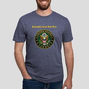 Army Rangers Lead The Way Mens Tri-blend T-Shirt