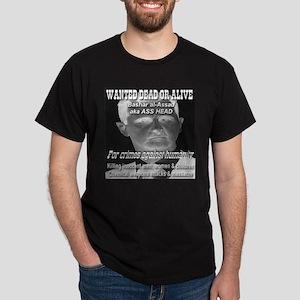 Assad Wanted Poster Dark T-Shirt