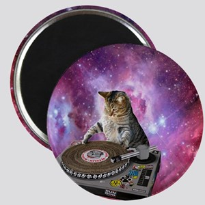DJ Space Cat Magnet