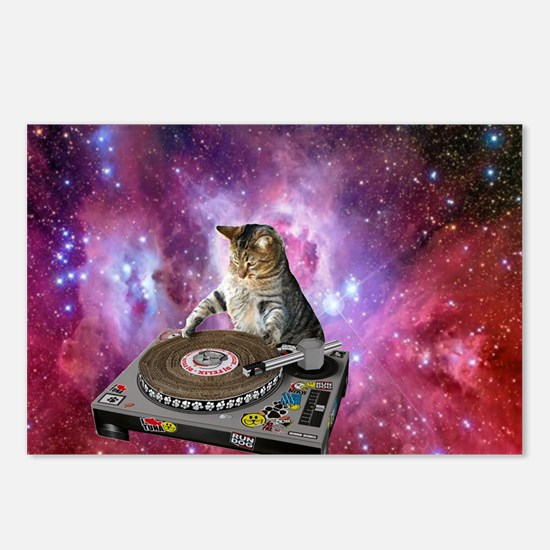 DJ Space Cat Postcards (Package of 8)