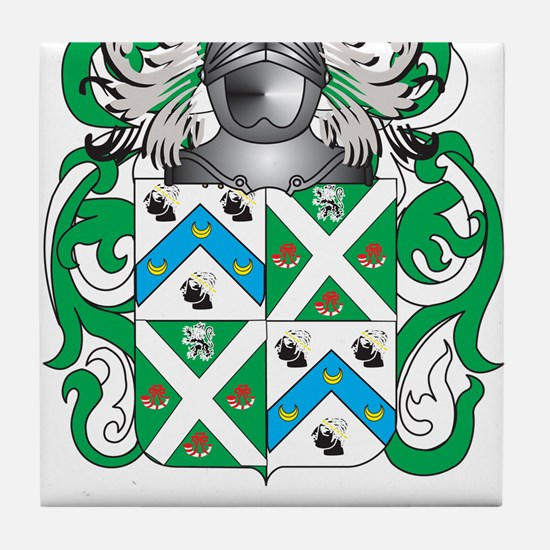 Morris-3 Coat of Arms - Family Crest Tile Coaster
