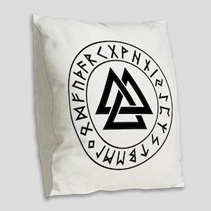valknut Burlap Throw Pillow