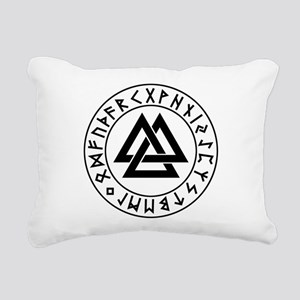 valknut Rectangular Canvas Pillow
