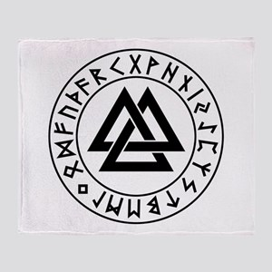 valknut Throw Blanket