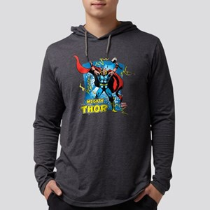 Mighty Thor Mens Hooded Shirt
