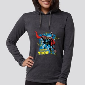 Mighty Thor Womens Hooded Shirt