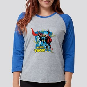 Mighty Thor Womens Baseball Tee