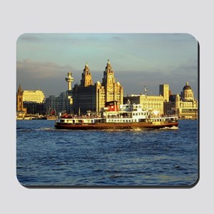 Mersey Ferry and Liverpool Waterfront Mousepad