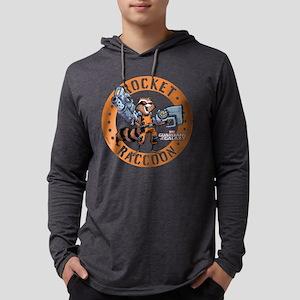 GOTG Comic Rocket Guns Dark Mens Hooded Shirt
