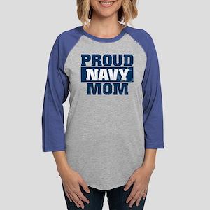 US Navy Proud Navy Mom Womens Baseball Tee