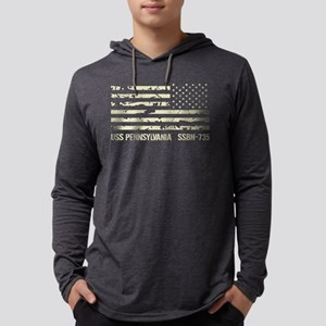 USS Pennsylvania Mens Hooded Shirt