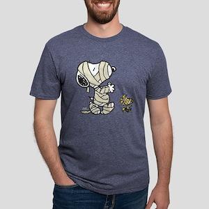SnoopyMummy-Dark Mens Tri-blend T-Shirt