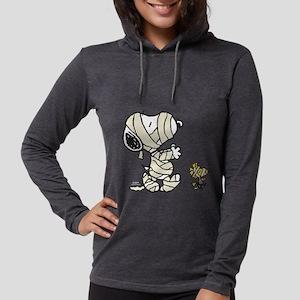 SnoopyMummy-Dark Womens Hooded Shirt