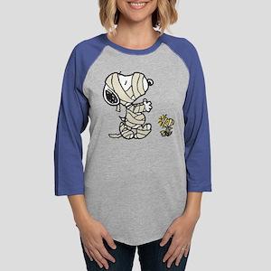SnoopyMummy-Dark Womens Baseball Tee
