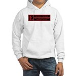 Rated E for evil Hooded Sweatshirt
