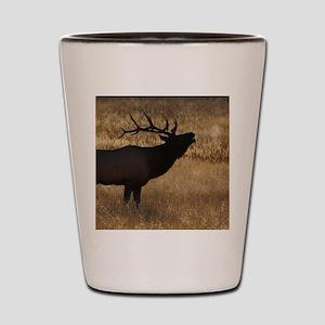 elk bugling Shot Glass