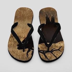 elk bugling Flip Flops