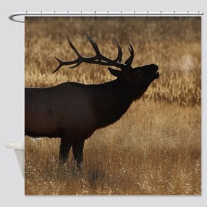 elk bugling Shower Curtain