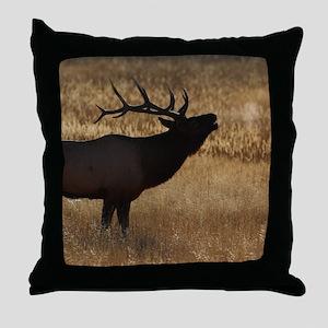 elk bugling Throw Pillow
