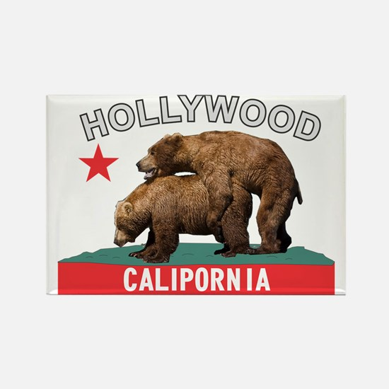 Hollywood Calipornia Rectangle Magnet