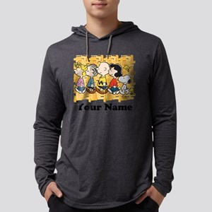 Peanuts Walking Personalized Mens Hooded Shirt