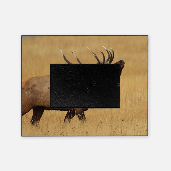 Bull Elk with Head Back Picture Frame