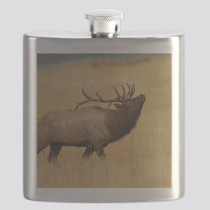 Bull Elk with Head Back Flask