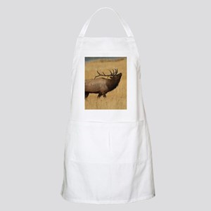 Bull Elk with Head Back Apron