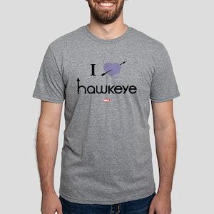 I Heart Hawkeye Purple Ligh Mens Tri-blend T-Shirt
