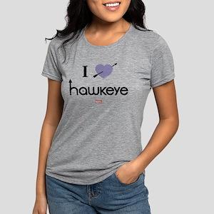 I Heart Hawkeye Purple Li Womens Tri-blend T-Shirt