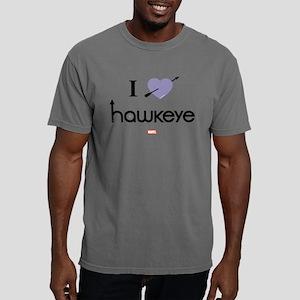 I Heart Hawkeye Purple L Mens Comfort Colors Shirt