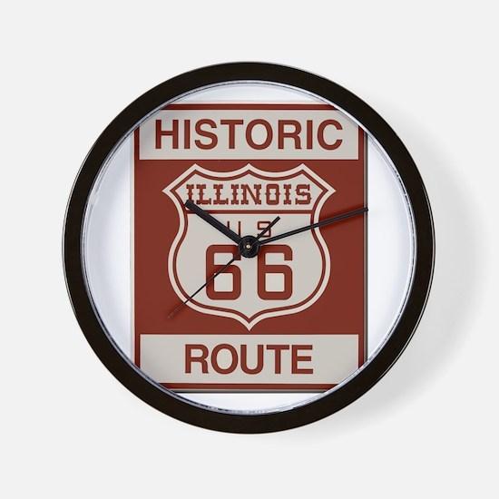 Illinois Route 66 Wall Clock