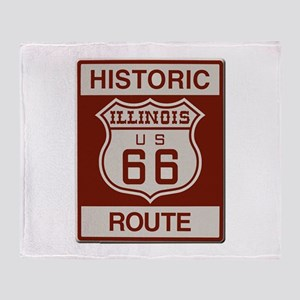 Illinois Route 66 Throw Blanket