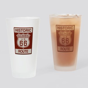 Illinois Route 66 Drinking Glass