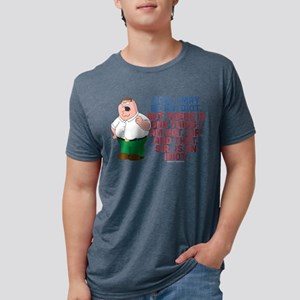 Family Guy Idiot Dark Mens Tri-blend T-Shirt