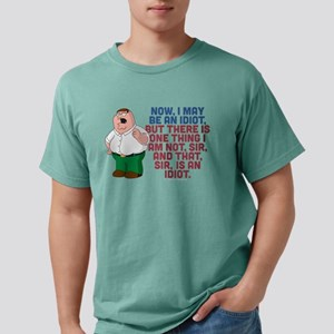 Family Guy Idiot Dark Mens Comfort Colors Shirt