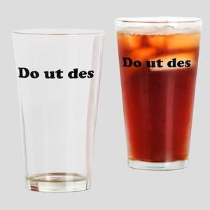 Do ut des Drinking Glass