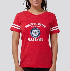 Proud Daughter Of A US Navy  Womens Football Shirt