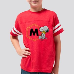 Snoopy Woodstock Monogrammed Youth Football Shirt