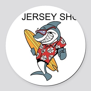Jersey Shore Round Car Magnet