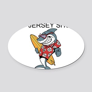 Jersey Shore Oval Car Magnet