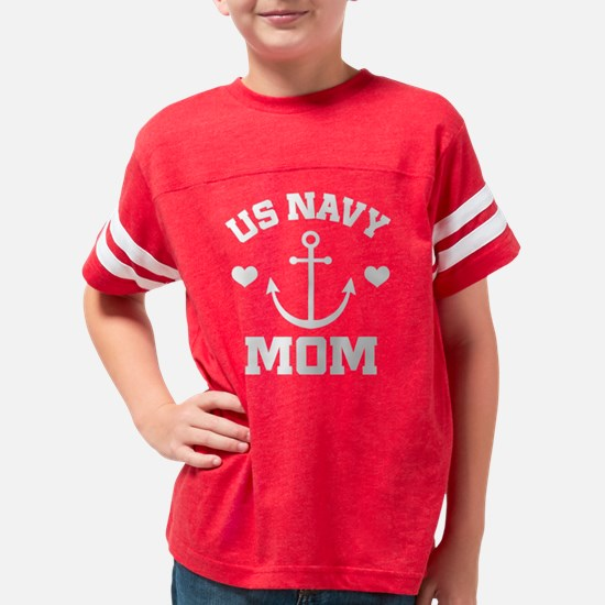 US Navy Mom gift idea Youth Football Shirt