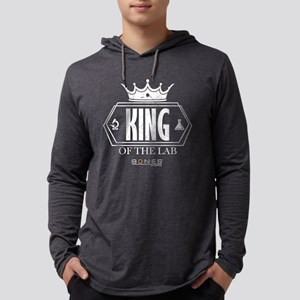 Bones King of the Lab Dark Mens Hooded Shirt