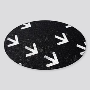 Asphalt with arrows Sticker (Oval)