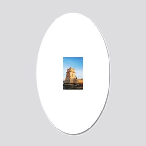 Belem Tower 20x12 Oval Wall Decal
