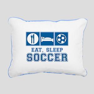 Eat, Sleep, Soccer Rectangular Canvas Pillow