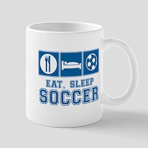 Eat, Sleep, Soccer Mugs