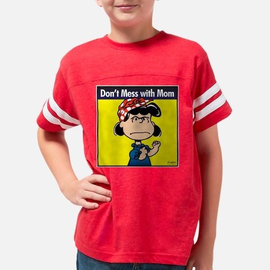 Peanuts Mom Youth Football Shirt