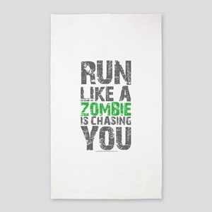 Run Like A Zombie Is Chasing You Area Rug